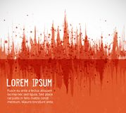 Abstract orange grunge background with place for your text. Vector illustration. Abstract orange grunge background with place for your text. Vector illustration Royalty Free Stock Images
