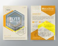 Abstract orange hexagon brochure annual report cover flyer poster design layout vector template in A4 size vector illustration