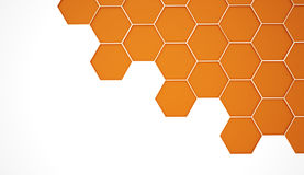 Abstract orange hexagonal background Royalty Free Stock Photos