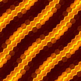 Abstract orange hexagons background. Art illustration. Color image computer screen. Macro picture design. Creative element. Stock Photos