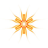 Abstract Orange Illustrated Star Royalty Free Stock Image