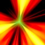 Abstract orange light illustration. Warp speed future technology. Exploding bomb. Warm colored background. Modern back design. Stock Photography