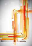 Abstract orange lines on grey background. Royalty Free Stock Images