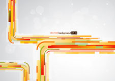 Abstract orange lines in with place for your text. Royalty Free Stock Photos