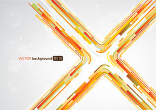 Abstract orange lines in X shape Stock Images