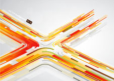 Abstract orange lines in X shape Stock Image