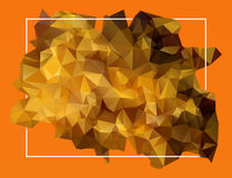 Abstract orange lowpoly background Stock Photos