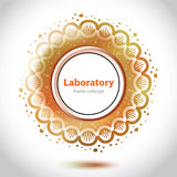 Abstract orange medical laboratory element. Stock Photos