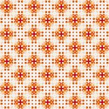 Abstract orange mosaic tile pattern. Brown and grey tiled texture background. Stock Photo