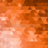 Abstract orange mosaic vector background Royalty Free Stock Photography