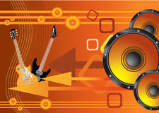 Abstract  orange music background Stock Photo