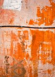 Abstract orange old wall. Abstract & expressive old wall in style of contemporary art Royalty Free Stock Photo