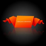 Abstract orange origami speech bubble Stock Image
