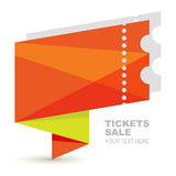 Abstract orange paper ticket illustration background. Vector log Royalty Free Stock Images