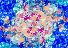 Abstract orange pink blue color bokeh wallpaper Royalty Free Stock Image
