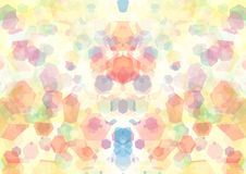 Abstract orange pink blue green color bokeh wallpaper Stock Photo