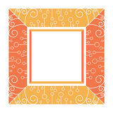 Abstract orange and pink frame. By line and curve Royalty Free Stock Photography