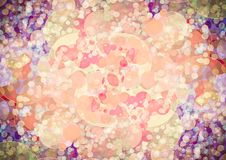 Abstract orange pink purple color bokeh wallpaper Stock Image
