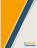 Abstract orange plate brochure with blue tire stripe Stock Photos