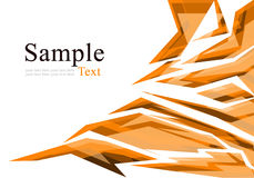 Abstract orange polygon Royalty Free Stock Photos
