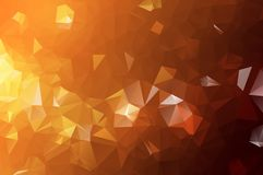 Abstract Orange polygonal pattern, which consist of triangles. Geometric background in Origami style with gradient. Triangular des. Ign for your business vector illustration