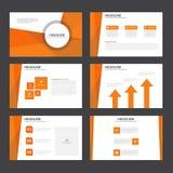 Abstract Orange presentation template flat design set for brochure flyer leaflet marketing Stock Image