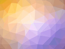 Abstract orange pruple gradient polygon shaped background.  Royalty Free Stock Image