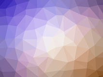 Abstract orange purple gradient polygon shaped background.  Stock Images