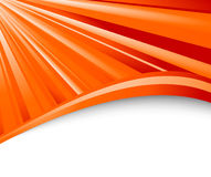 Abstract orange ray background Stock Photography