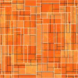 Abstract orange rectangle seamless pattern with grunge effect Stock Photography