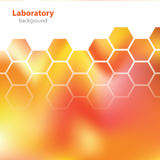 Abstract orange-red laboratory background. Royalty Free Stock Image