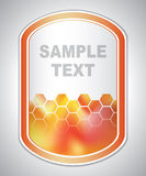 Abstract orange-red laboratory label Stock Images