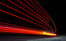 Abstract orange, red and yellow lights royalty free stock photography