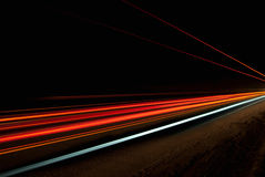 Abstract orange, red and yellow lights royalty free stock image