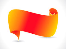 Abstract orange ribbon vector Stock Photography