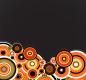 Abstract orange rings. Floral background. Vector Royalty Free Stock Photos