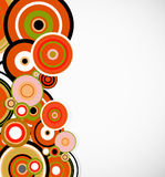 Abstract orange rings. Floral background. Vector Royalty Free Stock Images