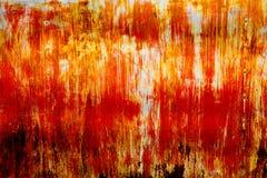 Abstract orange rusty zinc as texture Royalty Free Stock Photo