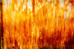 Abstract orange rusty zinc as texture Royalty Free Stock Photography