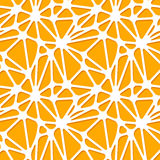 Abstract orange shapes on white, seamless pattern Royalty Free Stock Photos