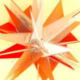 Abstract orange sharp glass Stock Images