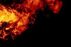 Abstract orange smoke hookah on a black background. royalty free stock image