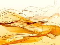 Abstract orange smoke, waves and mesh Royalty Free Stock Photography