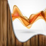 Abstract Orange Smooth Waves. Stock Image