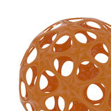 Abstract orange sphere, 3d image. 3d rendering of an abstract sphere on a white background Royalty Free Stock Photography
