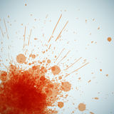 Abstract orange spots background with place for your text Stock Image