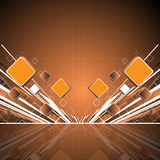 Abstract orange square background Stock Photos