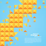 Abstract Orange Square On A Blue Background. Vector Illustration Royalty Free Stock Images
