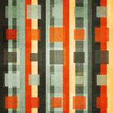 Abstract orange square seamless with grunge effect Royalty Free Stock Photos