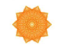 Abstract orange star shape. For design Royalty Free Stock Photo